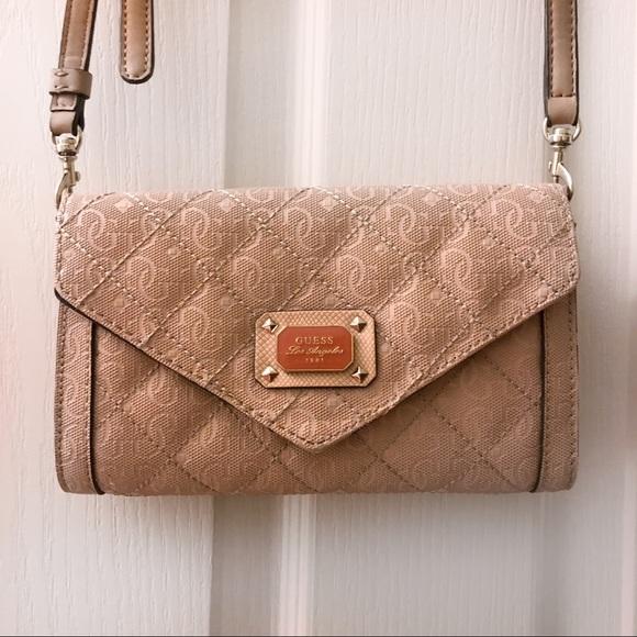 cc5c8161c9f GUESS Blush Pink Wallet Crossbody Shoulder Bag